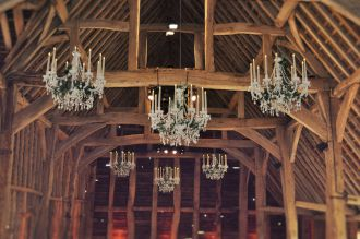 Chandeliers at Rushall Farm