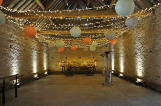 Cogges Farm Fairy Lights and Paper Lanterns