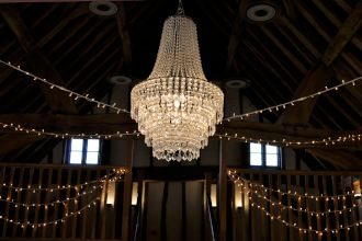 Crystal Chandeliers at the Tudor Barn