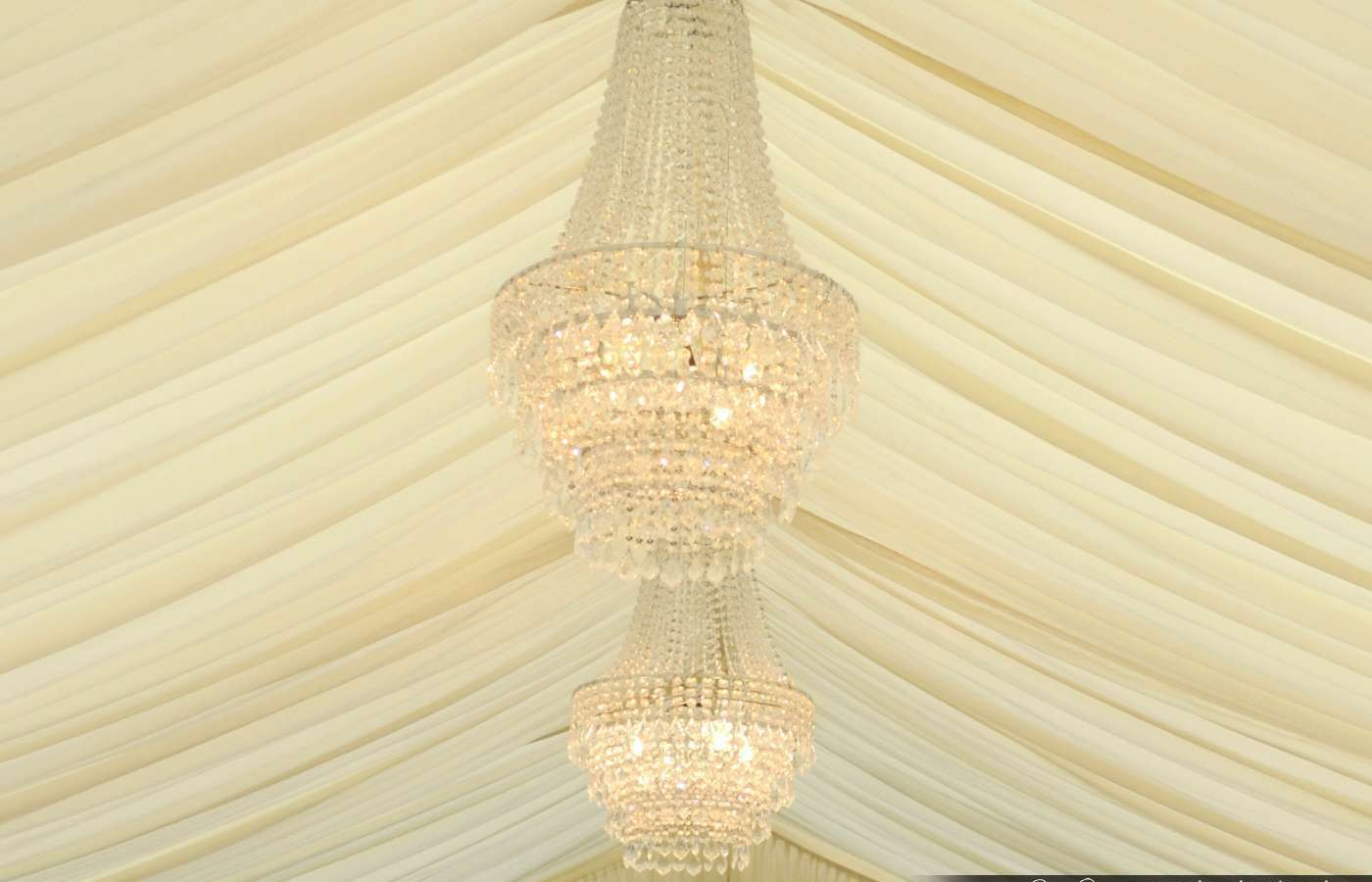 Crystal Chandeliers In Marquee