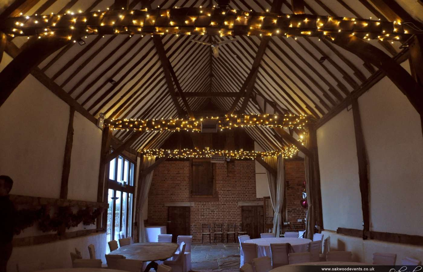 Fairy Light Wound Beams At Bix Manor