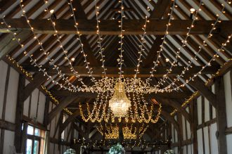Fairy Lights and Chandelier at Loseley Park