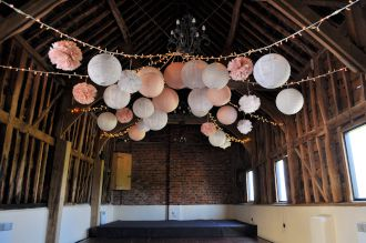 Fairy Lights and Lanterns at Newton Park Barn