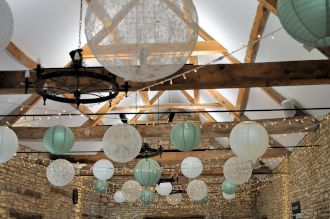 Fairy Lights and Paper Lanterns at Caswell House