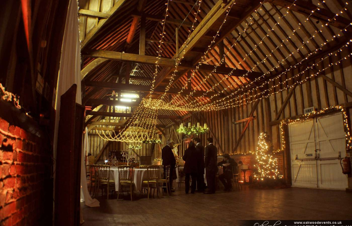 Fairy Lights And Uplighting At Lillibrooke Manor