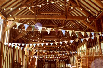 Festoons and Fairy Lights at Bonhams Barn