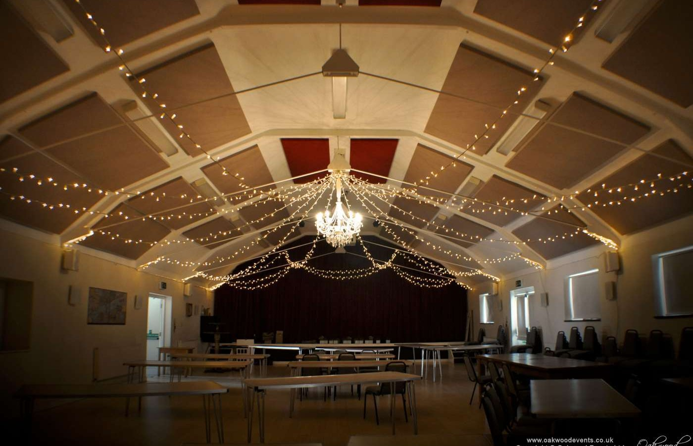 Islip village hall chandelier and fairy lights aloadofball Images