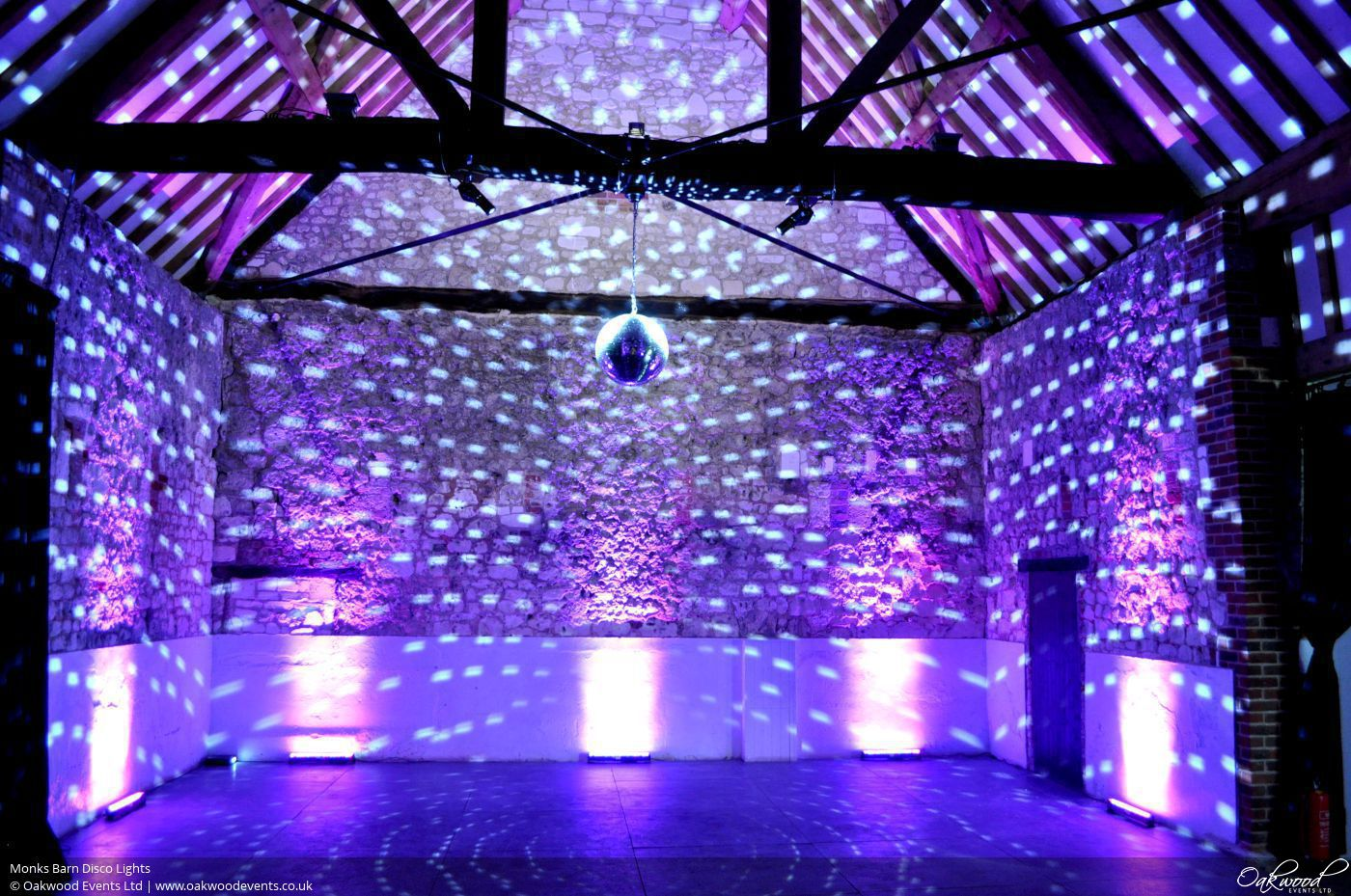 Monks Barn Disco Lights