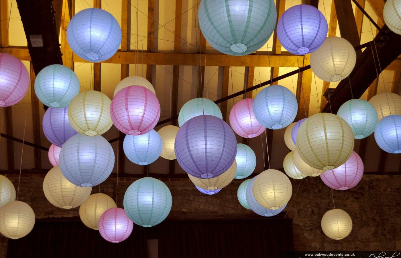 Monks Barn Wedding Lighting Scheme