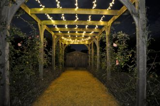 Fairy Lights on the Pergola at Stonehill House