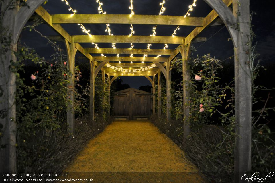 Outdoor lighting at stonehill house aloadofball Image collections