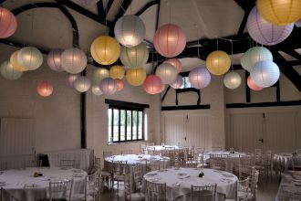 Paper Lanterns at Nether Winchendon House
