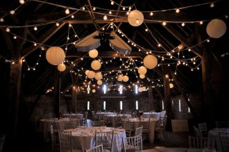 Stonehill House Festoon Lights and Paper Lanterns