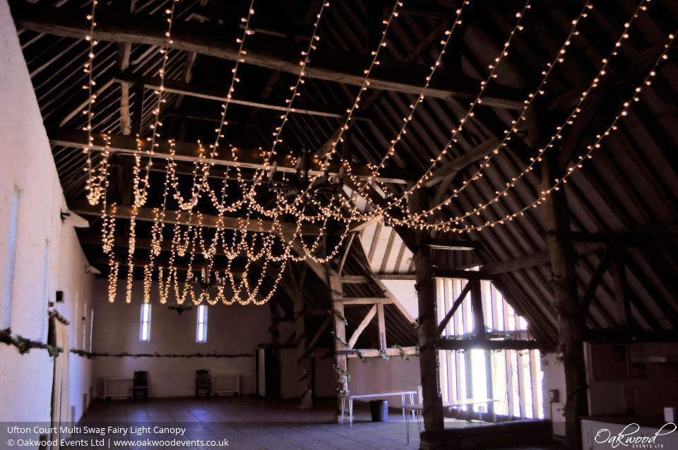 Ufton Court Multi Swag Fairy Light Canopy