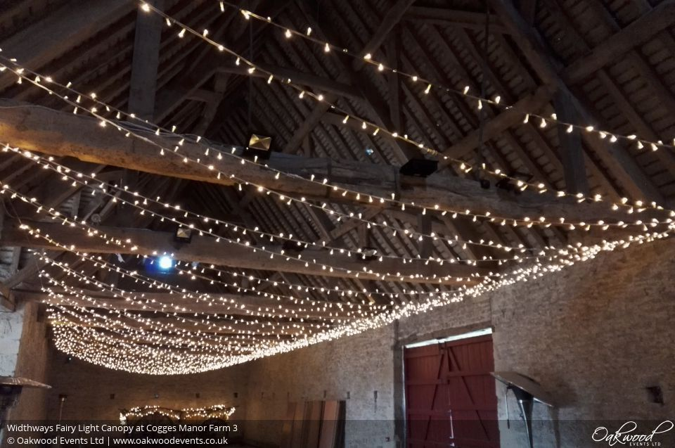 Widthways Fairy Light Canopy At Cogges Manor Farm