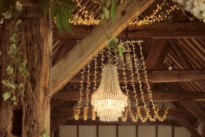 Chandelier with Fairy Light Canopy