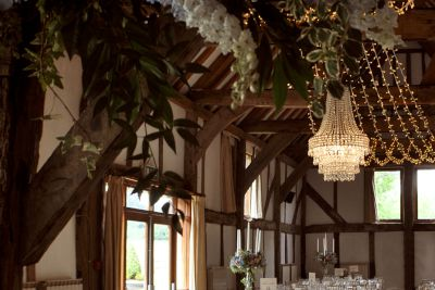 Crystal Tiered Chandelier for a Barn