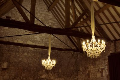 Pair of White Chandeliers