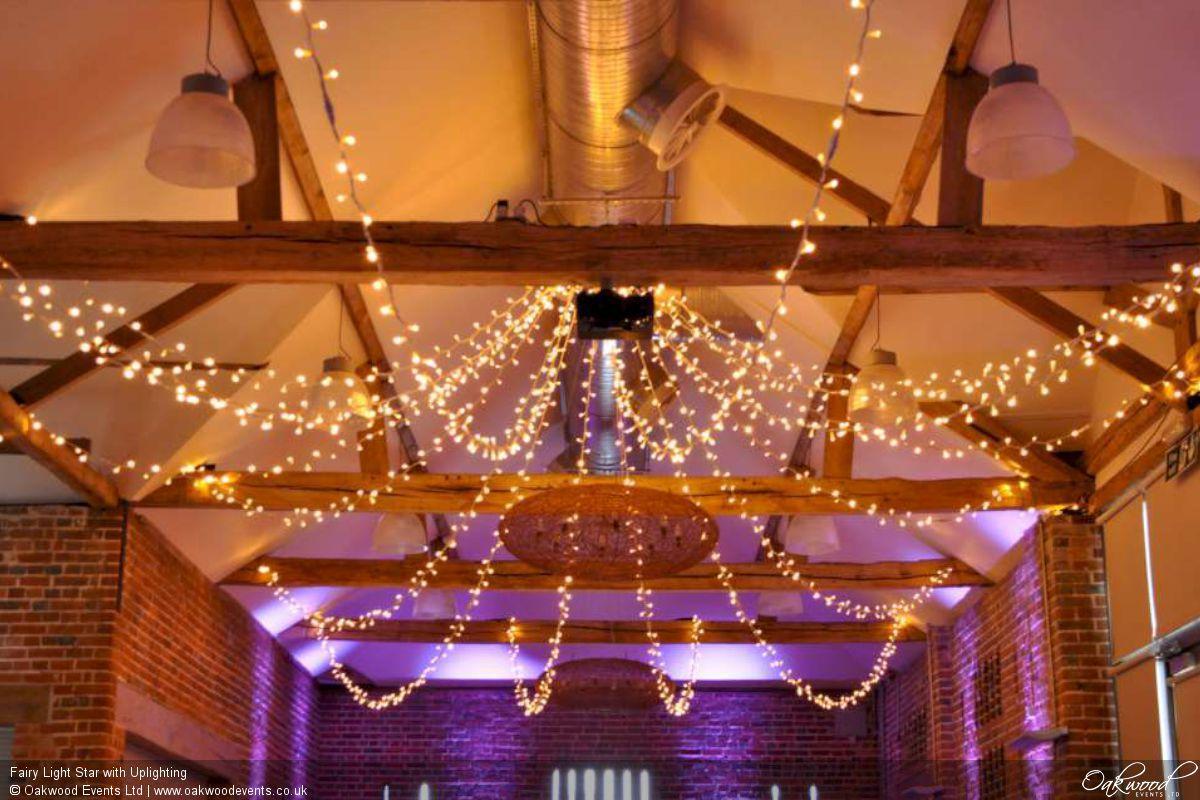 Fairy Light Star With Uplighting