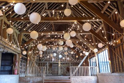 Festoons with White Paper Lanterns