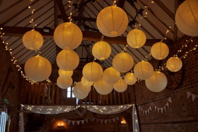 Fairy Lights with Paper Lanterns