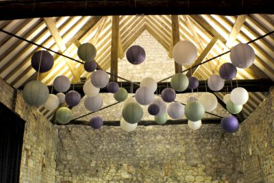 Mixed Lanterns in a Barn