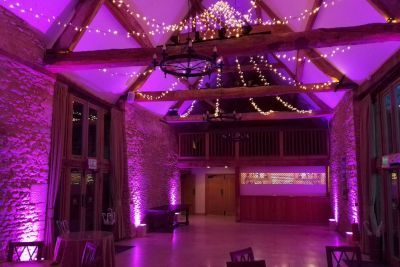 Colour Changing Uplighting with Fairy Lights