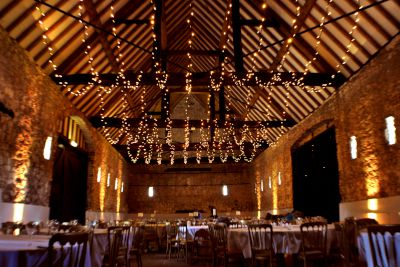 Fairy Light Canopy on Beams