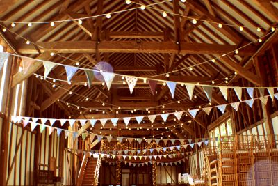 Festoon Lights for a Barn Wedding