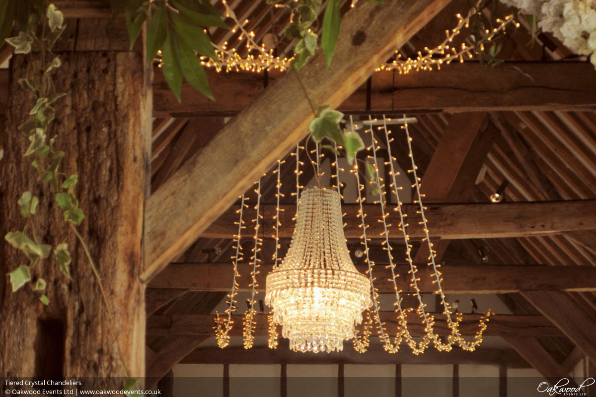 Chandelier hire oakwood events tiered crystal chandeliers aloadofball Gallery