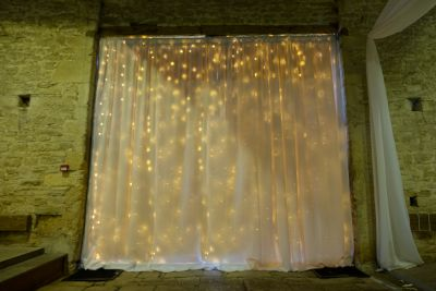 Backdrop Curtain Combined with Fairy Lights