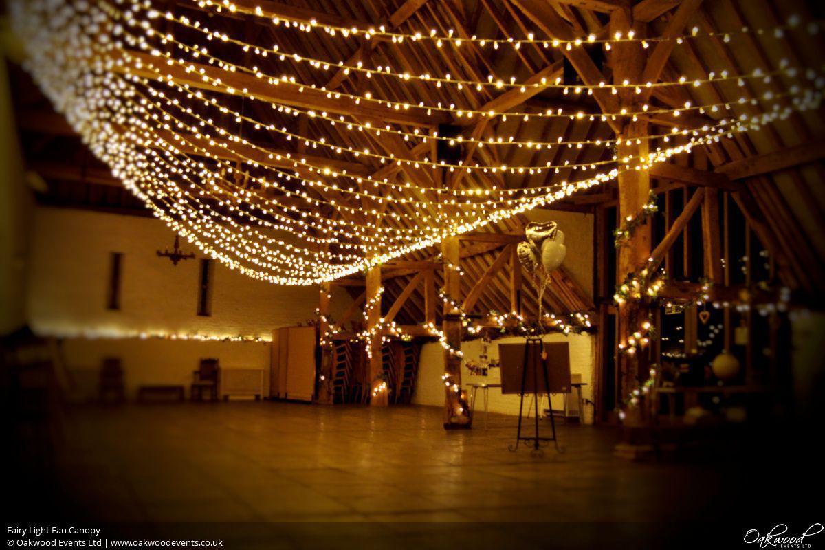Fairy Light Fan Canopy & Fairy Lights Hire   Oakwood Events