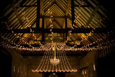 Single Gathered Fairy Lights with Chandelier