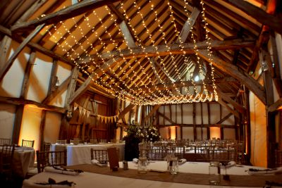 Single Swag Fairy Light Barn Canopy