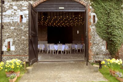 Festoon Lighting in Barn