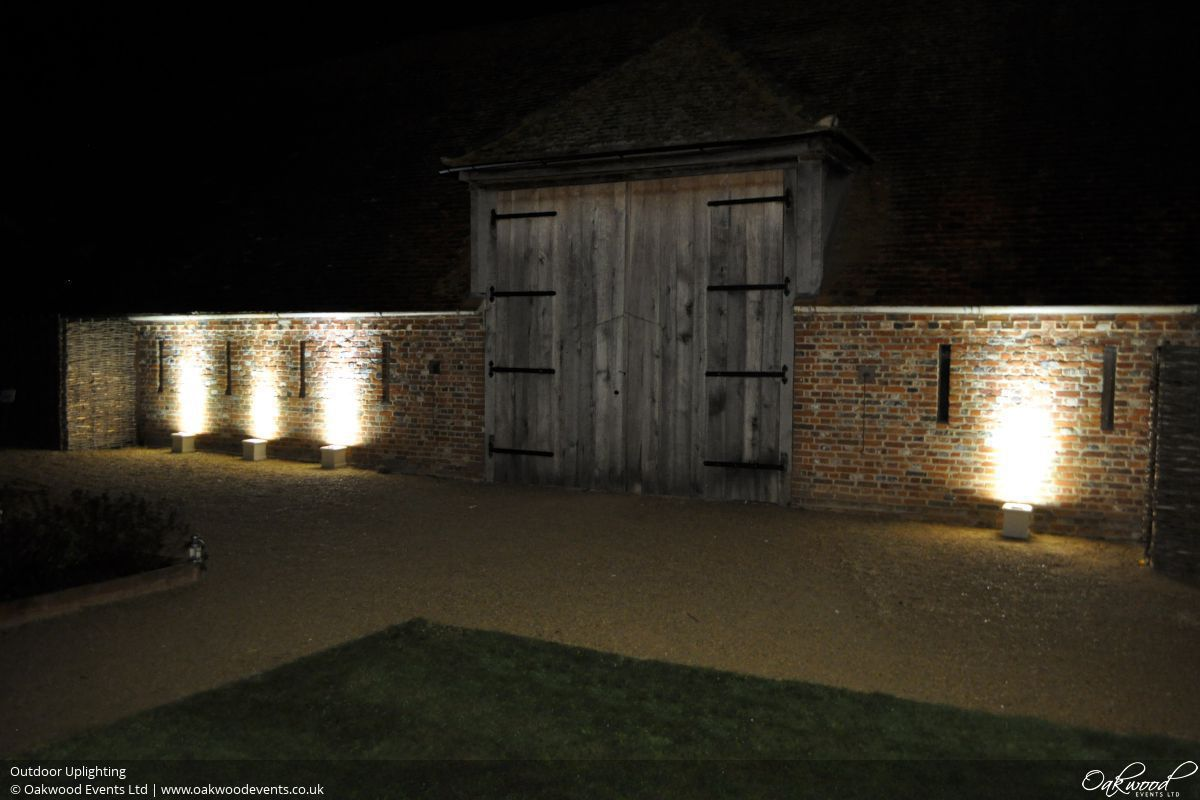 Outdoor lighting hire oakwood events outdoor uplighting mozeypictures Choice Image