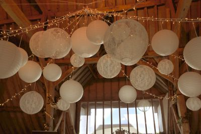 Paper Lanterns with Fairy Lights