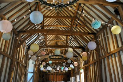 Paper Lanterns with Festoon Lights