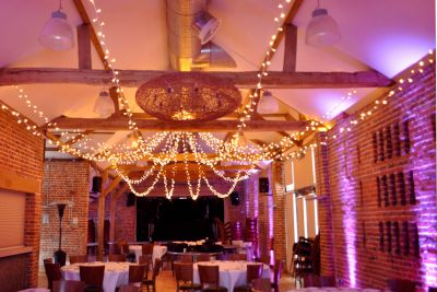 Purple Uplighting with Fairy Light Star