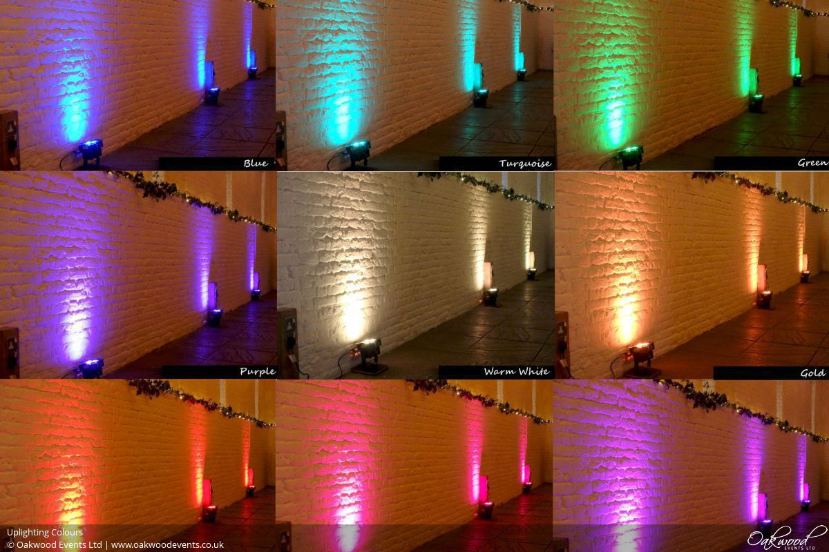 Uplighting Oakwood Events