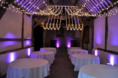 Uplighting with Fairy Light Canopy
