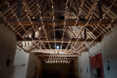 Fairy Light Gathered Canopy