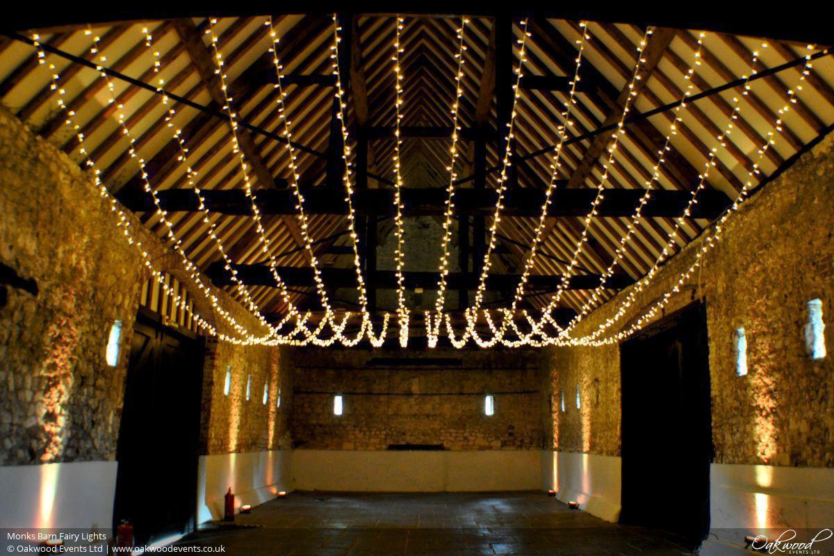 barn wedding lighting. Monk Barn Fairy Lights Wedding Lighting N