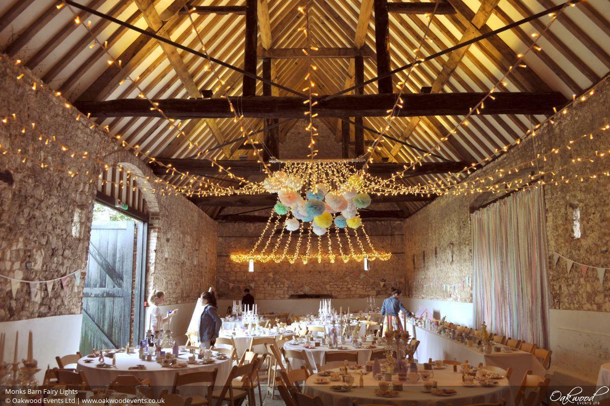 Monks Barn Wedding Lighting Oakwood Events