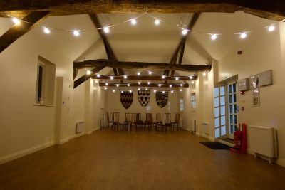 Ufton Court Archers Hall Festoon Lights