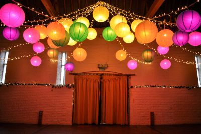 Ufton Court Colour Changing Disco Lanterns