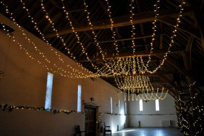 Ufton Court Double Gathered Fairy Light Canopy