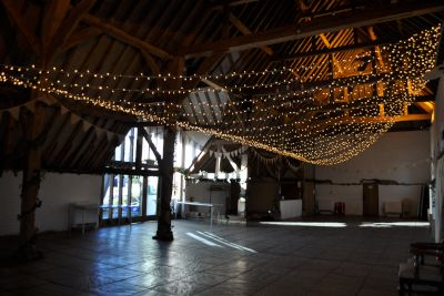 Ufton Court Fairy Light Fan Canopy
