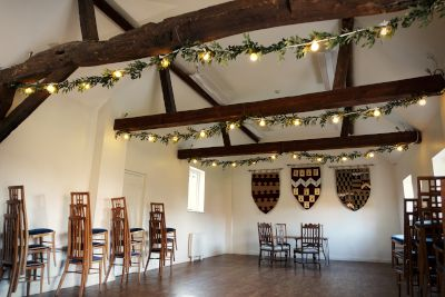 Ufton Court Festoon Lights and Greenery