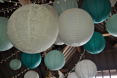 Ufton Court Paper Lanterns and Fairy Lights
